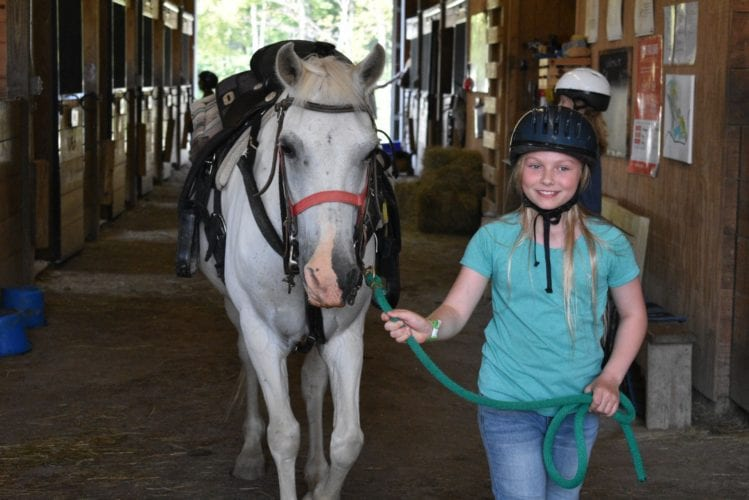 Leading Buddy In The Barn
